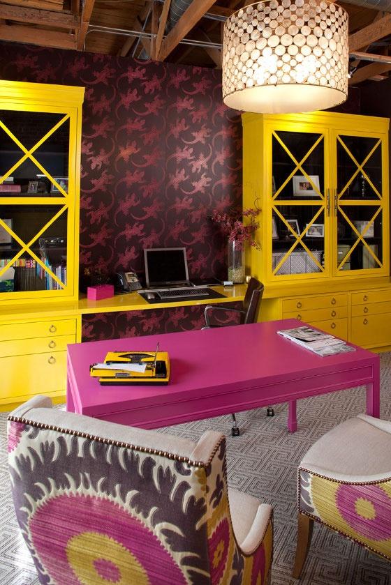 pink e amarelo